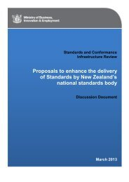 Standards and Conformance Infrastructure Review - Ministry of ...