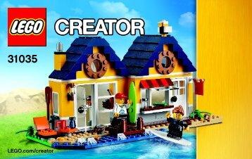 Lego Beach Hut 31035 - Beach Hut 31035 Bi 3004/72+4*- 31035 V29 1/3 - 5