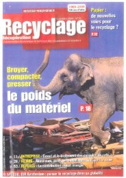 Lire l'article magazine RECYCLAGE - BECKER SHREDDER