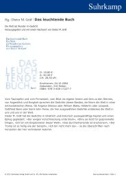Hg.: Dieter M. Gräf / Das leuchtende Buch - Suhrkamp
