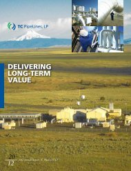 View 2012 Annual Report - TC PipeLines, LP