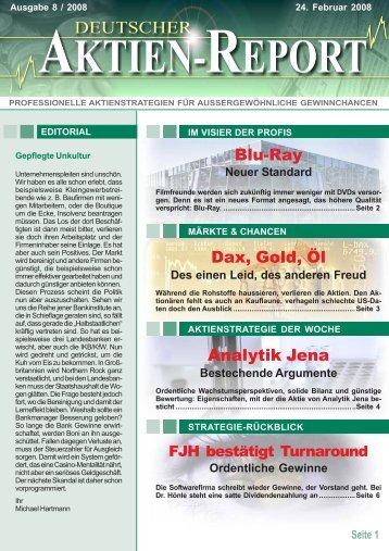 Ordentliche Gewinne - Deutscher Aktien-Report