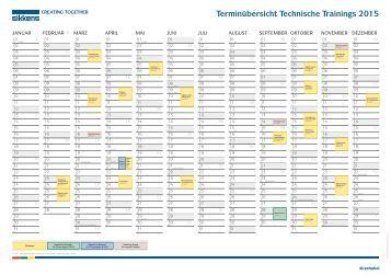 Terminübersicht Technische Trainings 2015