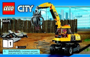 Lego Excavator and Truck 60075 - Excavator And Truck 60075 Bi 3004/52 - 60075 V39 1/3 - 6