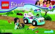 Lego Vet Ambulance 41086 - Vet Ambulance 41086 Bi 3003/28- 41086 V39 - 2