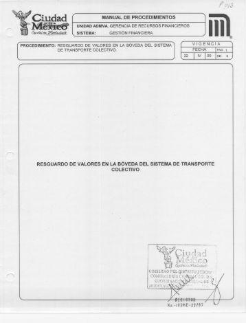 Page 1 PWS f MANUAL DE PROCEDIMIENTOS w UNIDAD ADMVA ...