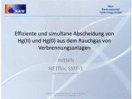 """Neu! Präsentation zum Thema """" Quecksilber in Rauchgasen"""""""