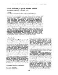 On the anisotropy of secular variation deduced from paleomagnetic ...