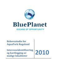 AquaPark Rogaland - Behovsstudie ... - BluePlanet AS
