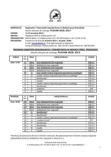 Propozycje ZR ZT KKJK 14-15.09.2013 - Małopolski Związek ...