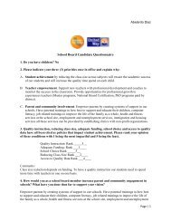 School Board Candidate Questionnaire - United Way of Greater Los ...
