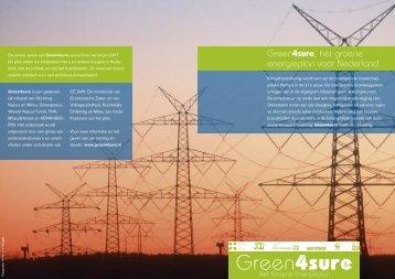 Green4Sure, hét groene energieplan voor Nederland