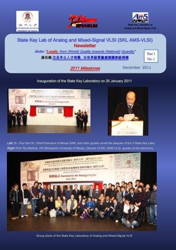 AMSV Newsletter 2011