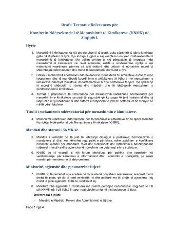 Draft- Termat e References për Komitetin ... - chemicals.al