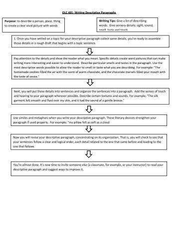 Paragraph Examples � Narrative, Persuasive, Descriptive