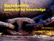 Sustainability powered by knowledge - The International EPD ...