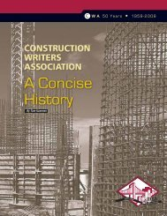 A Concise History - Construction Writers Associations