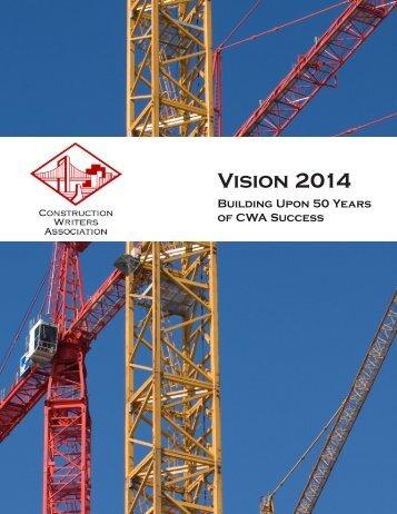 Strategic Plan-Vision 2014 - Construction Writers Associations