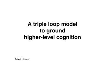 A triple loop model to ground higher-level cognition - Mixel Kiemen