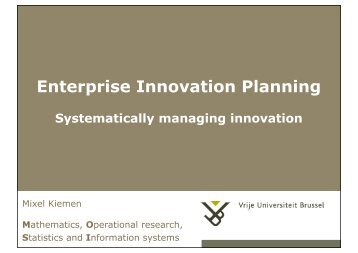 Enterprise Innovation Planning Systematically ... - Mixel Kiemen