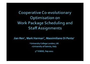 Cooperative Co-evolutionary Optimization of Software Project Staff ...