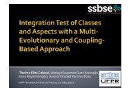 Integration Test of Classes and Aspects with a Multi-Evolutionary ...