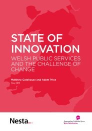 Welsh Public services and the challenge of change - Click on Wales