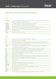 Key dates and events in Welsh history - Click on Wales