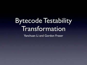 Bytecode Testability Transformation