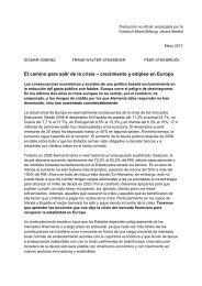 El camino para salir de la crisis - Friedrich-Ebert-Stiftung