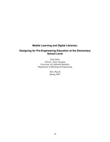 Mobile Learning and Digital Libraries - Berkeley Expert Systems ...