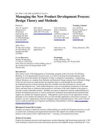 Syllabus - Berkeley Expert Systems Technology Lab - University of ...
