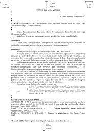Modelo do artigo - Revista Mundo & Letras