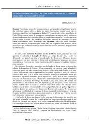 """de """"uma anatomia do drama"""" - Revista Mundo & Letras"""