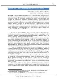 o artigo na escrita inicial de crianças - Revista Mundo & Letras