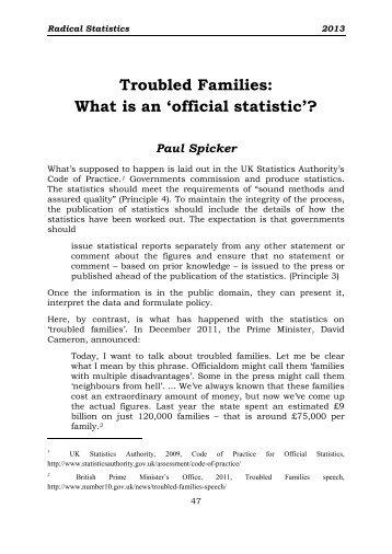 disadvantages of official statistics