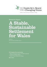Complete Changing Union Research Papers - Click on Wales