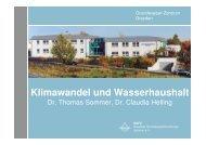 Klimawandel und Wasserhaushalt