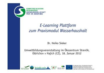 E-Learning-Plattform zum Praxismodul Wasserhaushalt