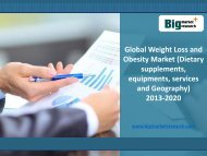 Weight Loss and Obesity Market by Dietary supplements, equipments to 2020
