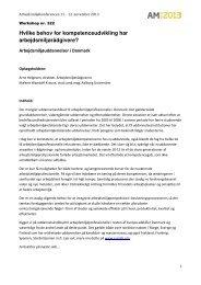 Hvilke behov for kompetenceudvikling har arbejdsmiljørådgivere?