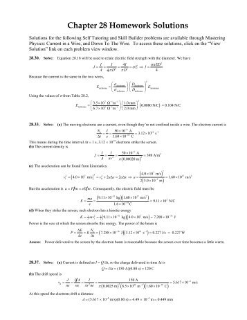 Chapter 2 Homework Solutions