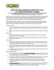 bats global markets reports 12.0% us equities ... - BATS Exchange