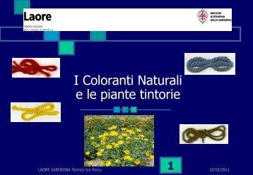 I coloranti naturali e le piante tintoree - GAL Sarcidano Barbagia di ...