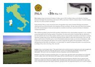 Pala's roots go deep into the land of Sardinia. In these ... - Lahvino
