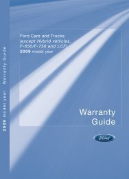 Ford Shelby GT 500 2009 - Warranty Guide Printing 2 (pdf)