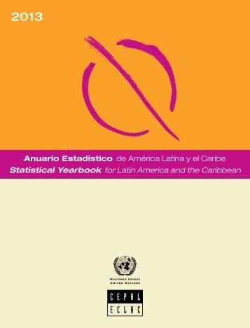 Anuario estadístico de América Latina y el Caribe = Statistical Yearbook for Latin America and the Caribbean 2013