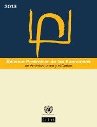 Balance Preliminar de las Economías de América Latina y el Caribe 2013