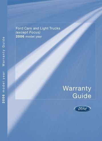 Ford Freestar 2006 - Warranty Guide Printing 5 (pdf)