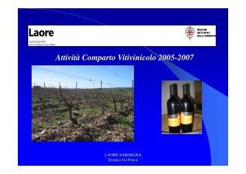 Il settore viti-vinicolo del Sarcidano Barbagia di - GAL Sarcidano ...